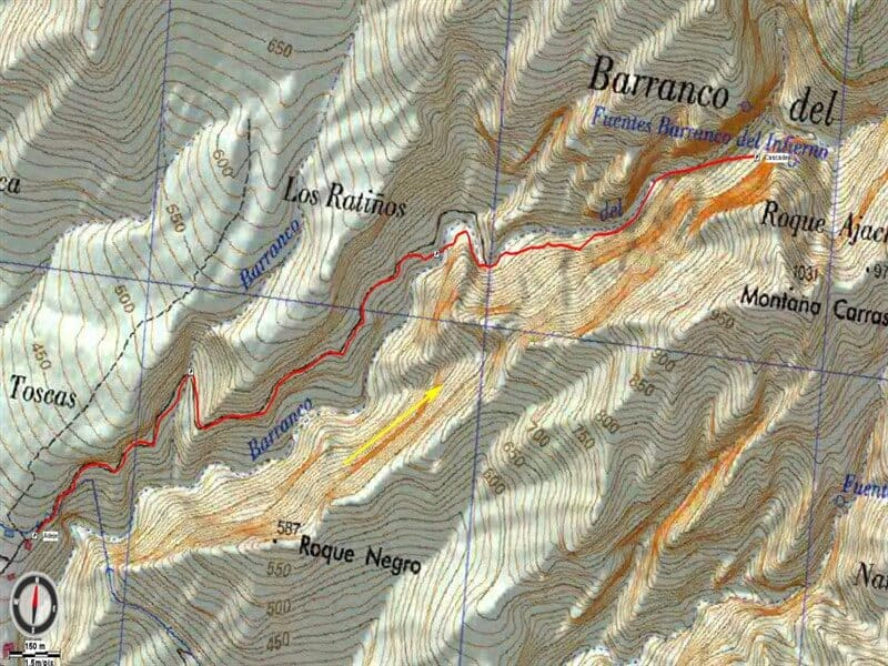 Map of Hells Canyon