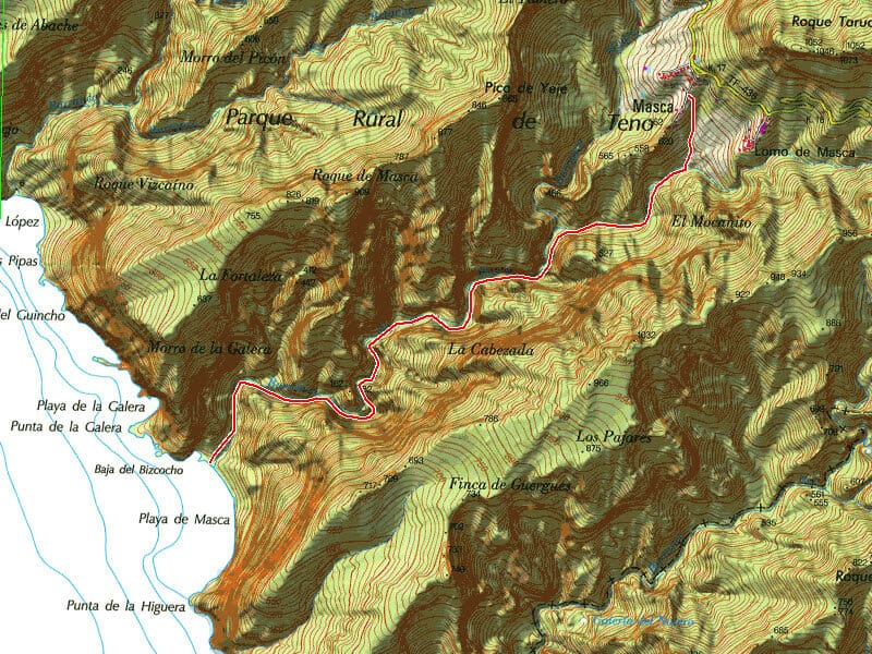 Map of Masca Trail